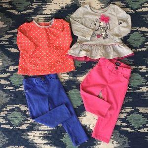 Children's Place Girls Outfit Bundle Sz 18-24M